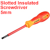 1000v Slotted Insulated Magnetic Tip Electrical Screwdriver 5mm x 100mm