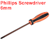 #2(PH2) Phillips Screwdriver 6 Inch Round Shaft Magnetic