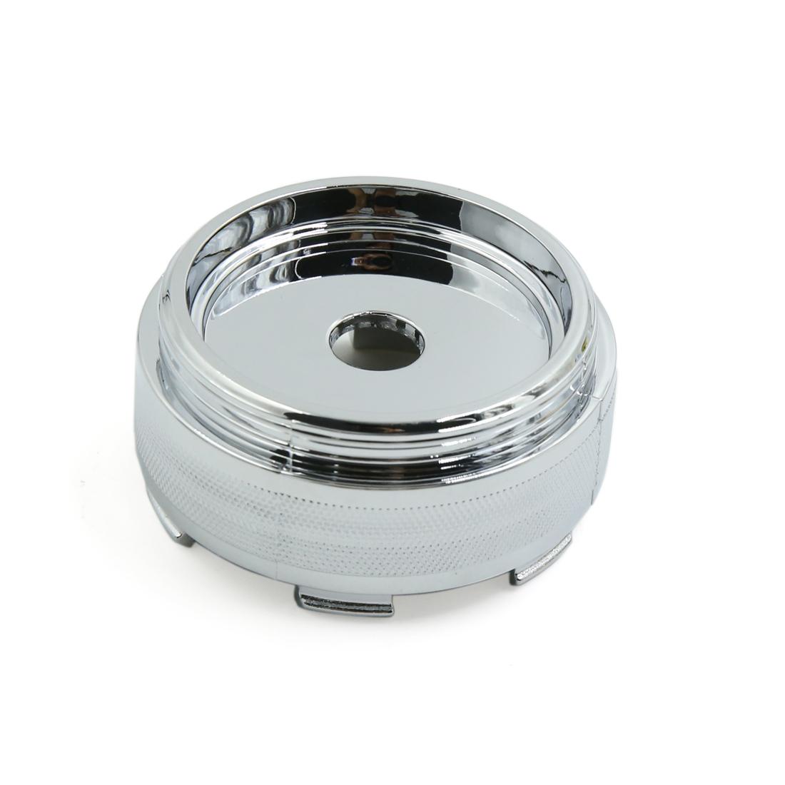 61mm Dia 6 Lugs Silver Tone Plastic Tyre Wheel Center Hub Cap Cover for Car