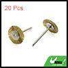 20pcs Gold Tone 25mm Dia Steel Wire Wheel Brush Polishing Rotary Tool for Car