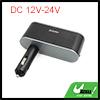 Black DC 12/24V 3 Way Cigarette Lighter Socket USB Adapter for Car Vehicle