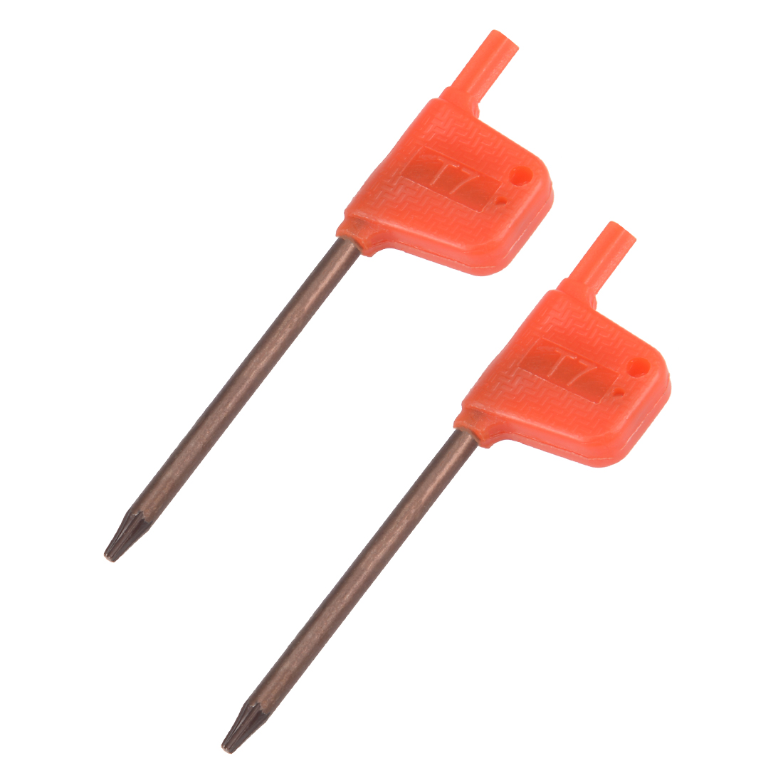 2PCS T7 S2 Flag Type Handle Driver Torx Key Wrench Spanner Screwdriver