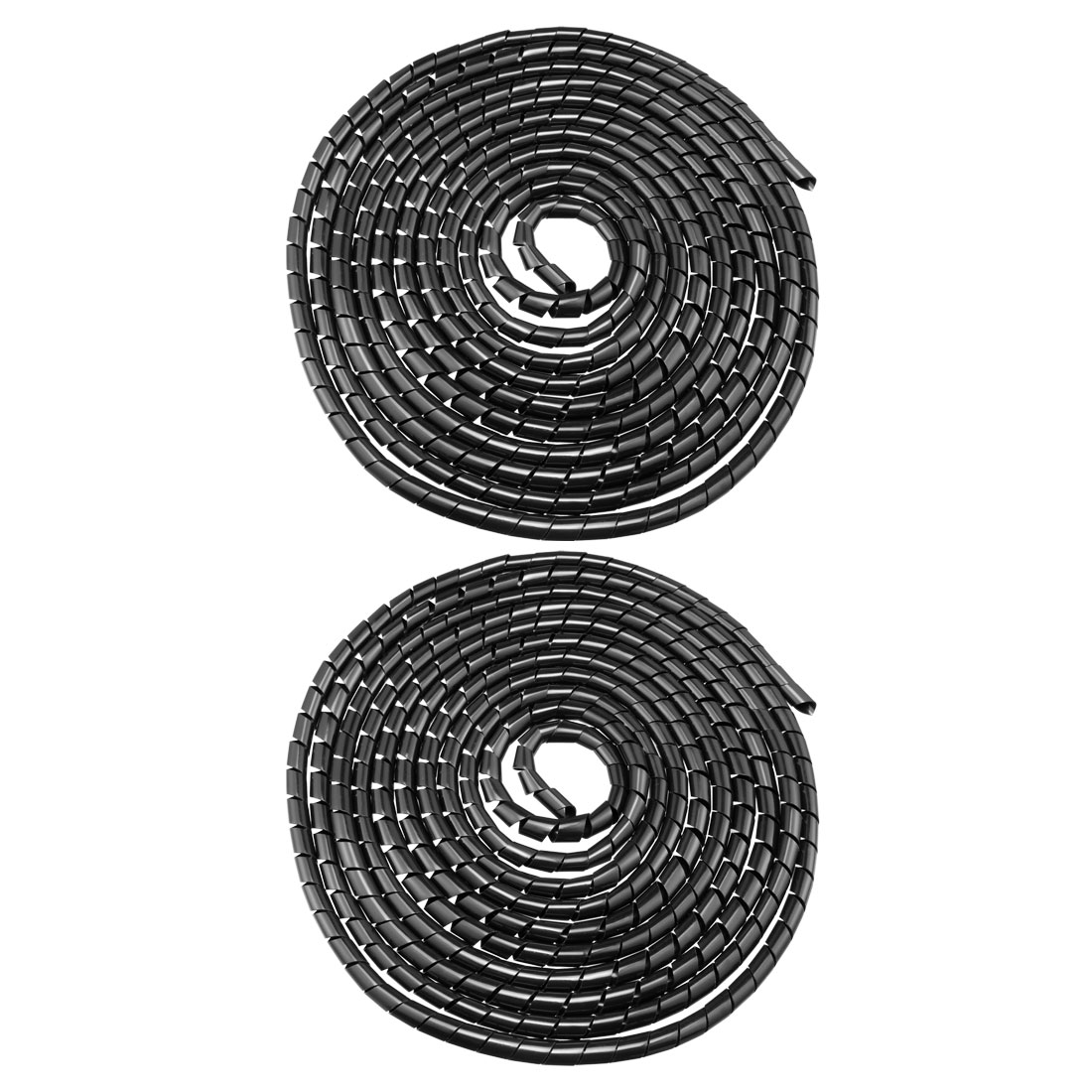2pcs 12mm Flexible Spiral Tube Cable Wiring Wrap Computer Manage Cord 5.5-8M