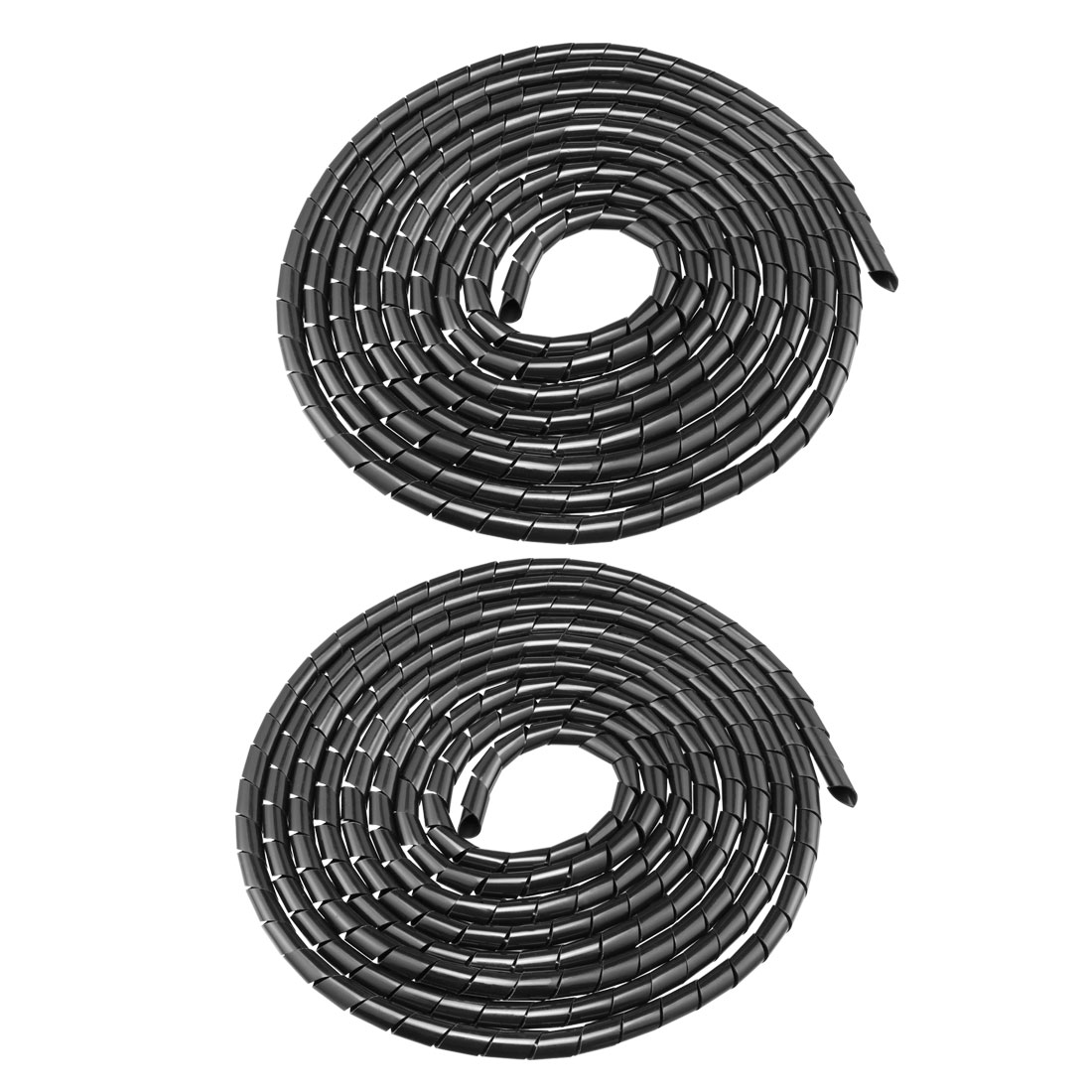 2pcs 14mm Flexible Spiral Tube Cable Wiring Wrap Computer Manage Cord 4.5-6M