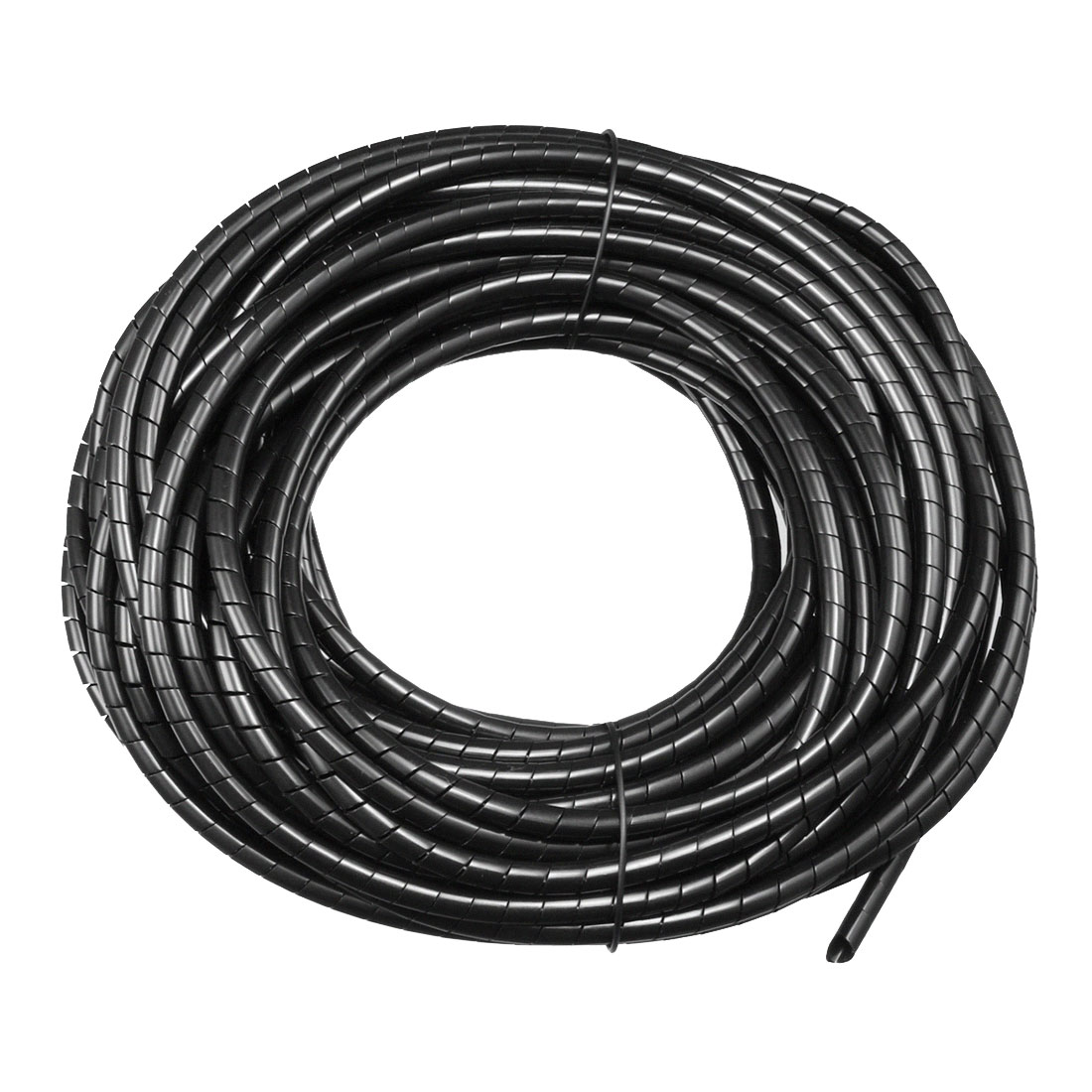 6mm Flexible Spiral Tube Cable Wire Wrap Computer Manage Cord Black 14-15Meter