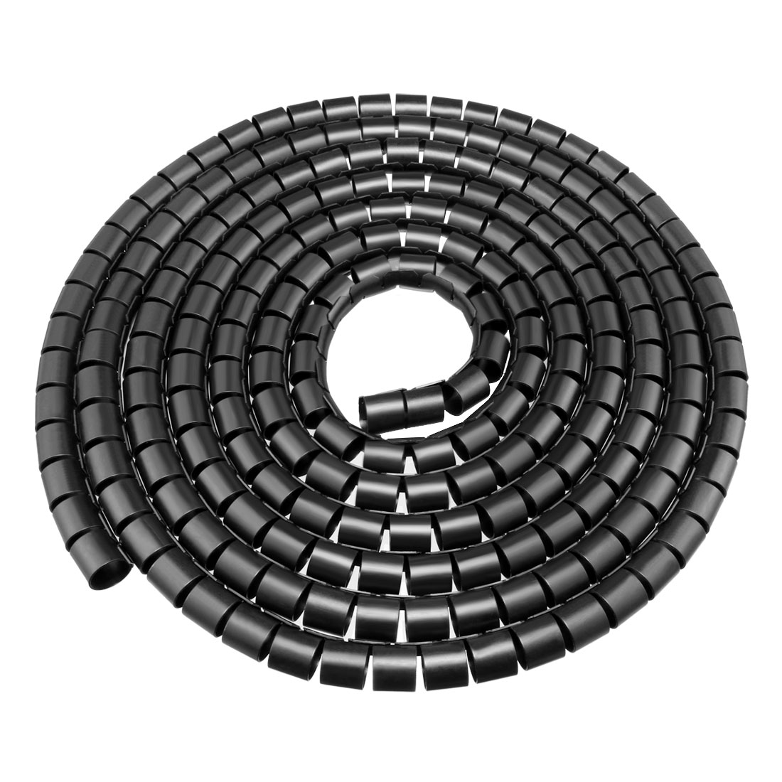 25mm Flexible Spiral Tube Cable Wire Wrap Computer Manage Cord Black 5M