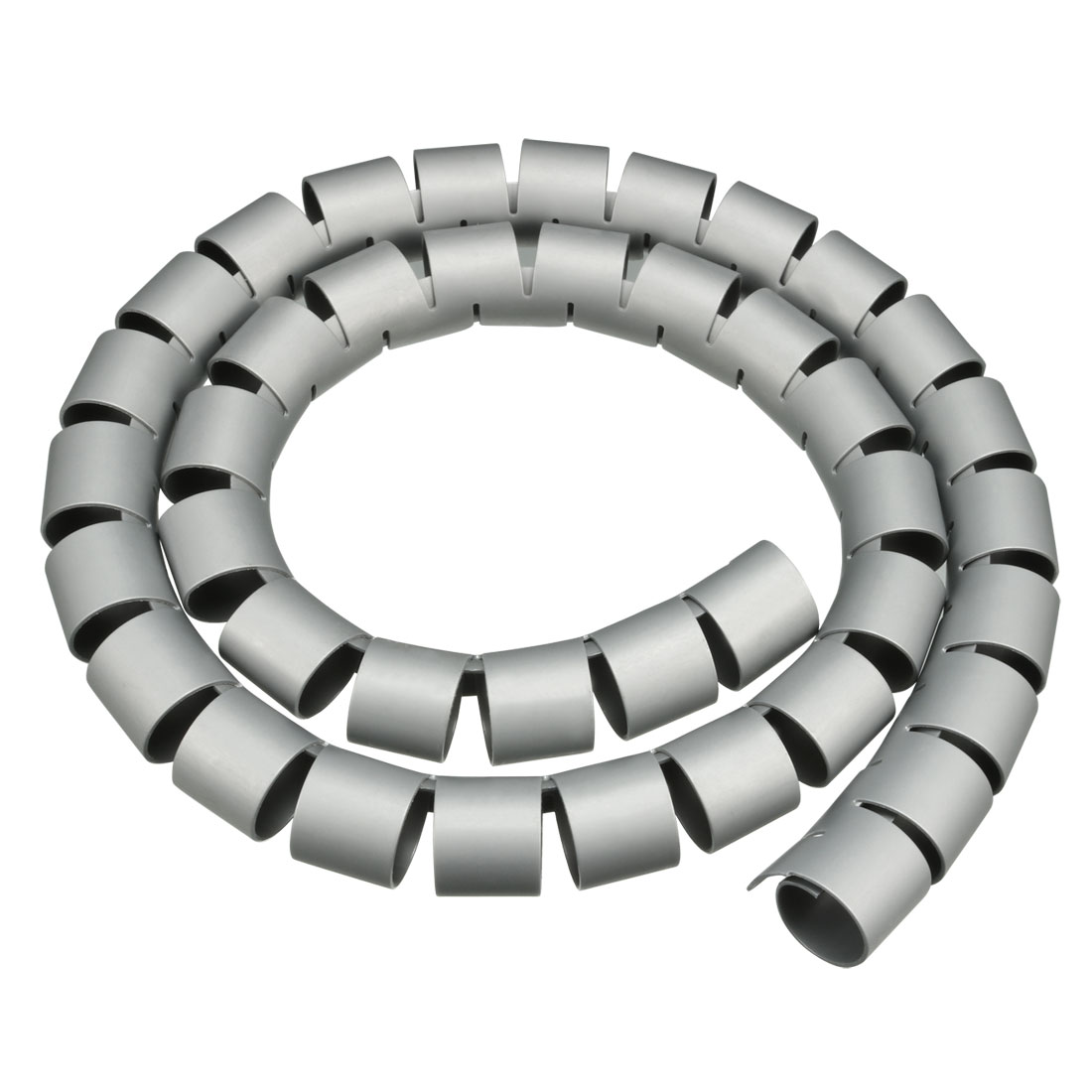 30mm Flexible Spiral Tube Cable Wiring Wrap Computer Manage Cord Gray 1M