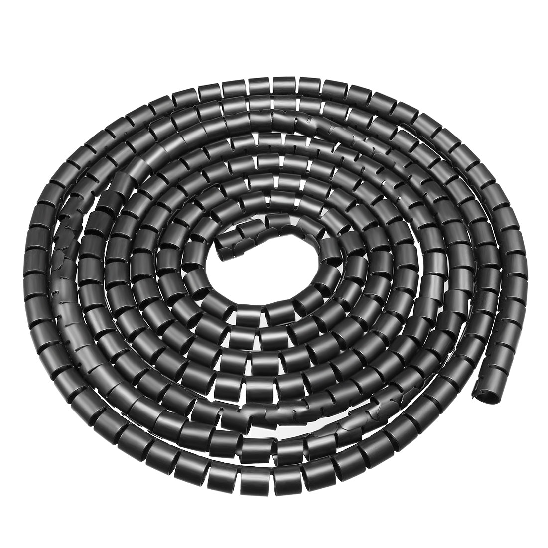 10mm Flexible Spiral Tube Cable Wire Wrap Computer Manage Cords Black 3Meter