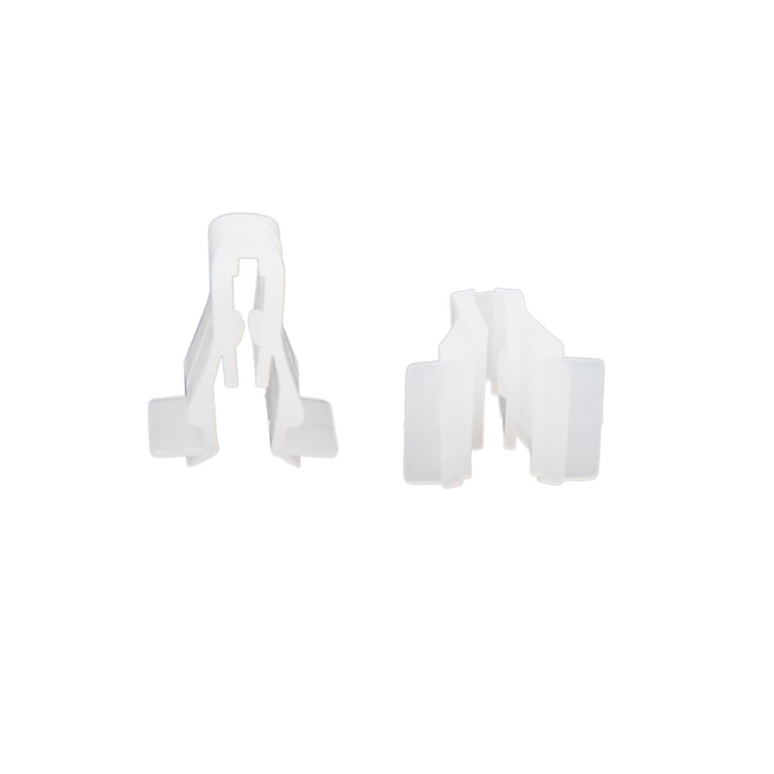 100Pcs White Plastic Rivets Door Trim Fastener Retainer Moulding Clips for Car