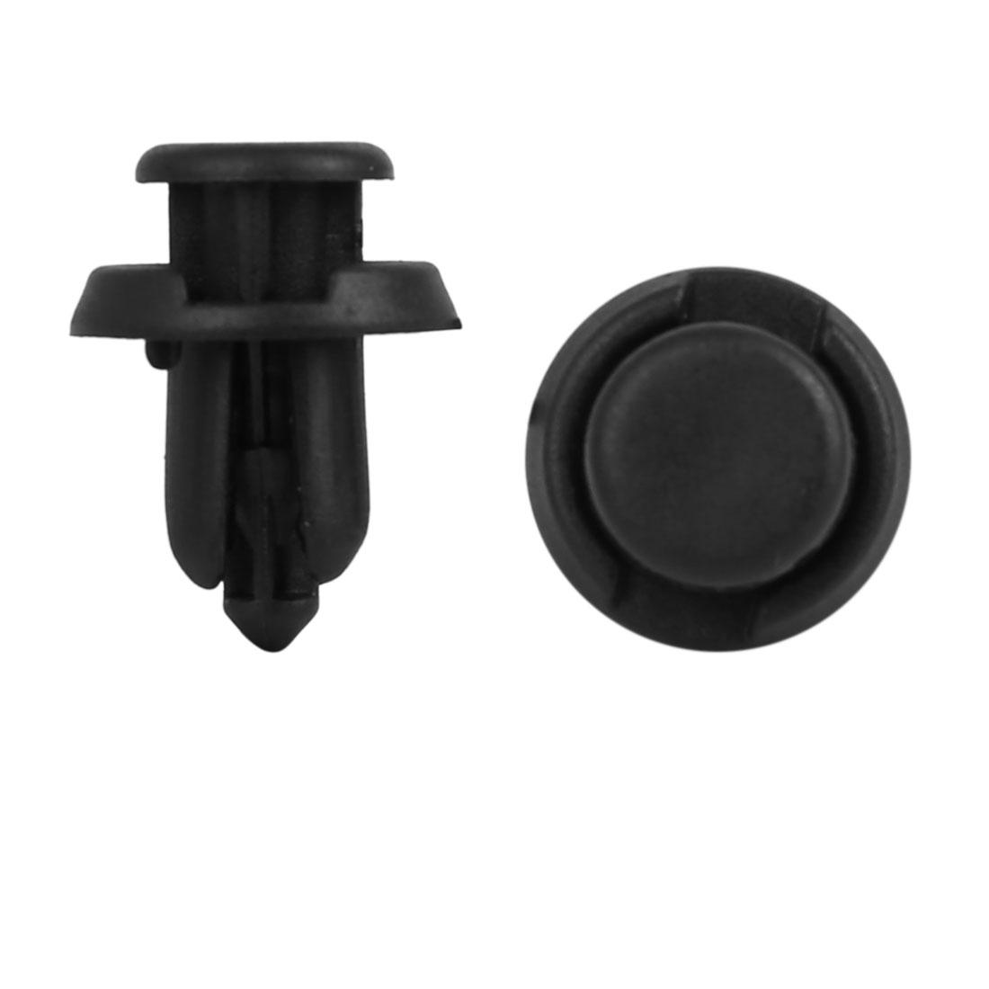 17Pcs 10mm Black Plastic Rivets Push Type Trunk Retainer Fastener Clip for Car