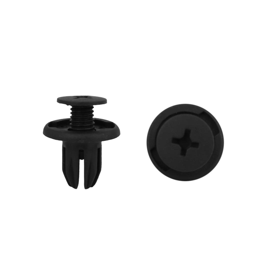 17Pcs 10mm Black Plastic Rivets Push Type Panel Retainer Fastener Clip for Car