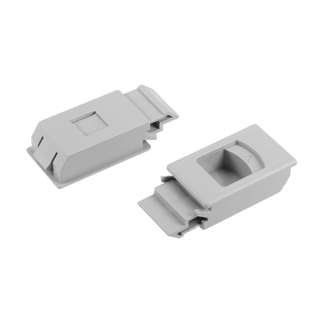 Plastic Slide Latch Window Door Inside Pull Rectangular Gray 61mm Length,6pcs