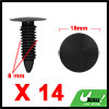 14Pcs 8mm Black Plastic Rivets Carpet Panel Retainer Fastener Clip for Toyota