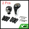 2pcs Universal Skull 5 Speed Manual Grip Gear Stick Shift Knob Shifter Lever