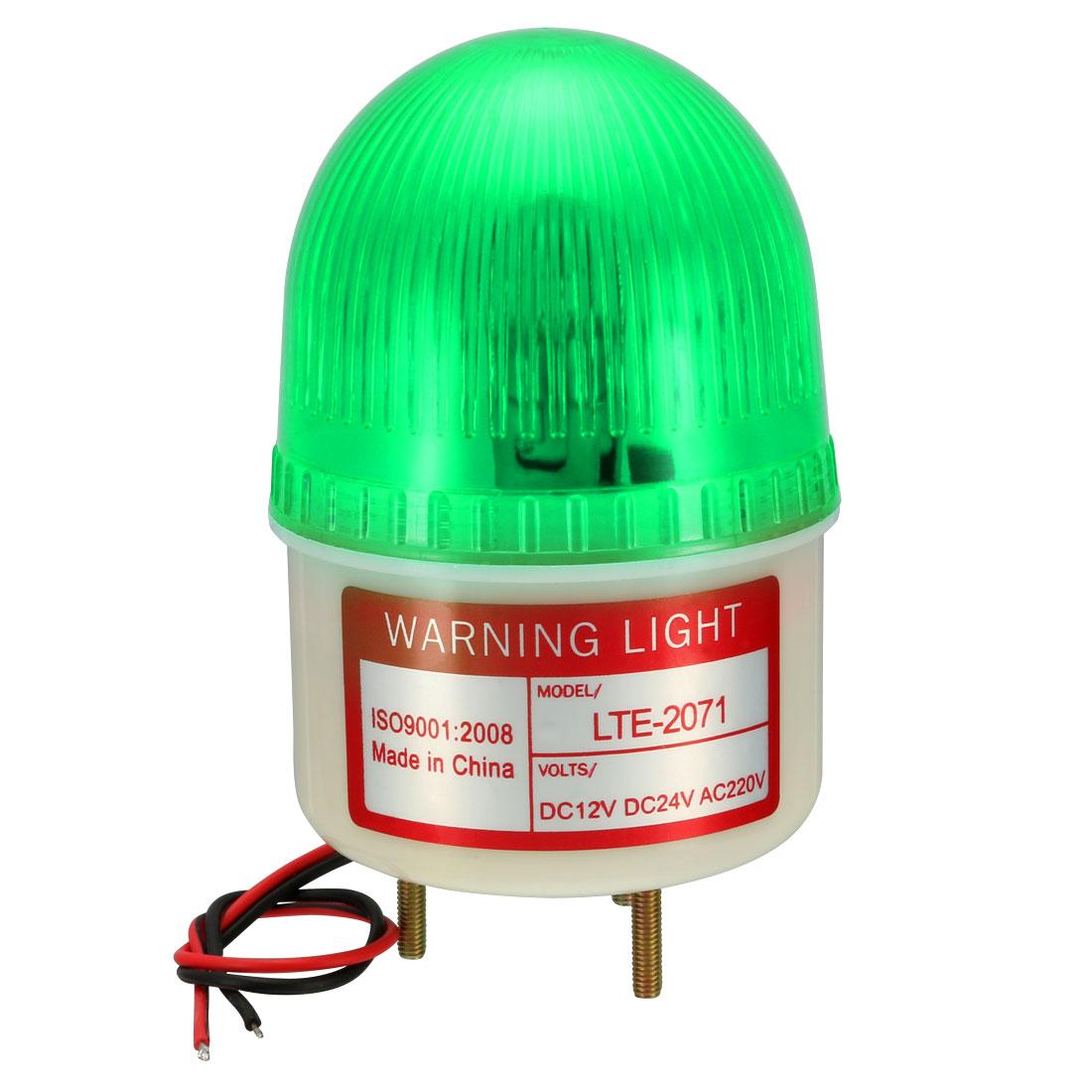 LED Warning Light Bulb Rotating FlashSignal Tower Lamp AC 220V Green LTE-2071