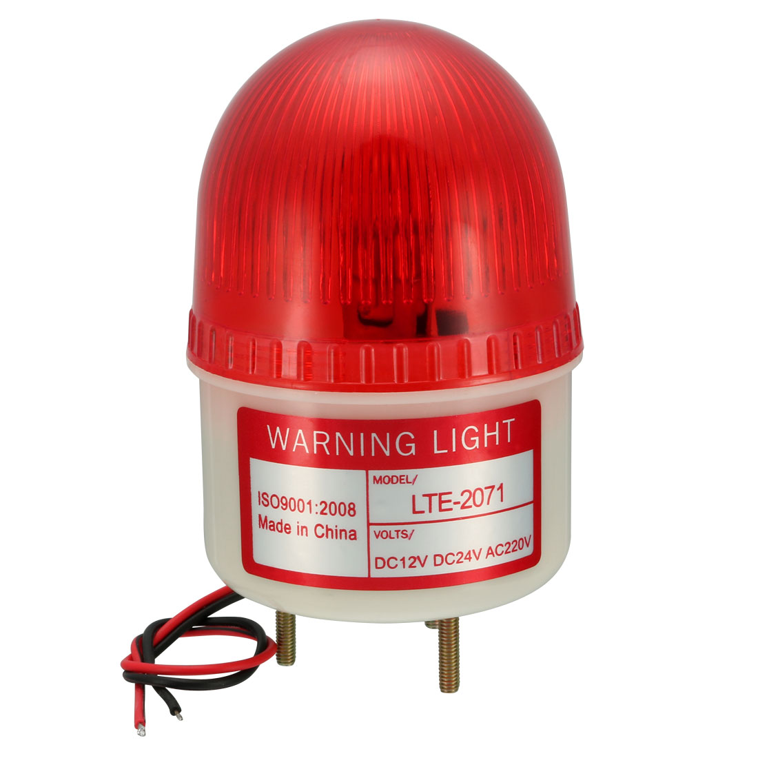 Emergency Warning Light Bulb Rotating Flash Signal Lamp DC 24V Red LTE-2071