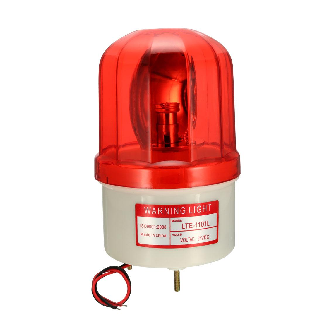LED Warning Light Bulb Rotating Signal Tower Lamp DC 24V Red LTE1101L