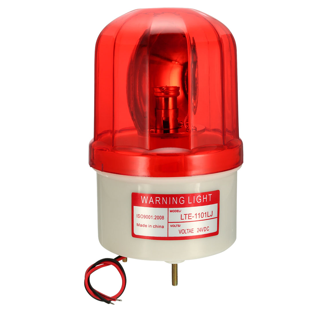 LED Warning Light Bulb Rotating Flashing Alarm Lamp Buzzer 90dB DC 24V Red