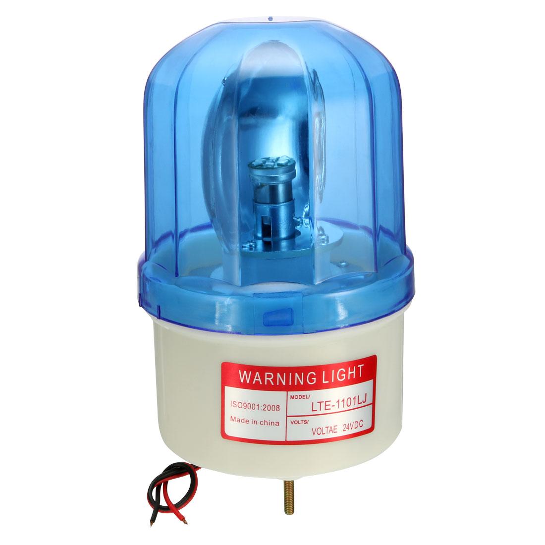 LED Warning Light Bulb Rotating Flashing Lamp Buzzer 90dB DC 24V Blue LTE1101LJ