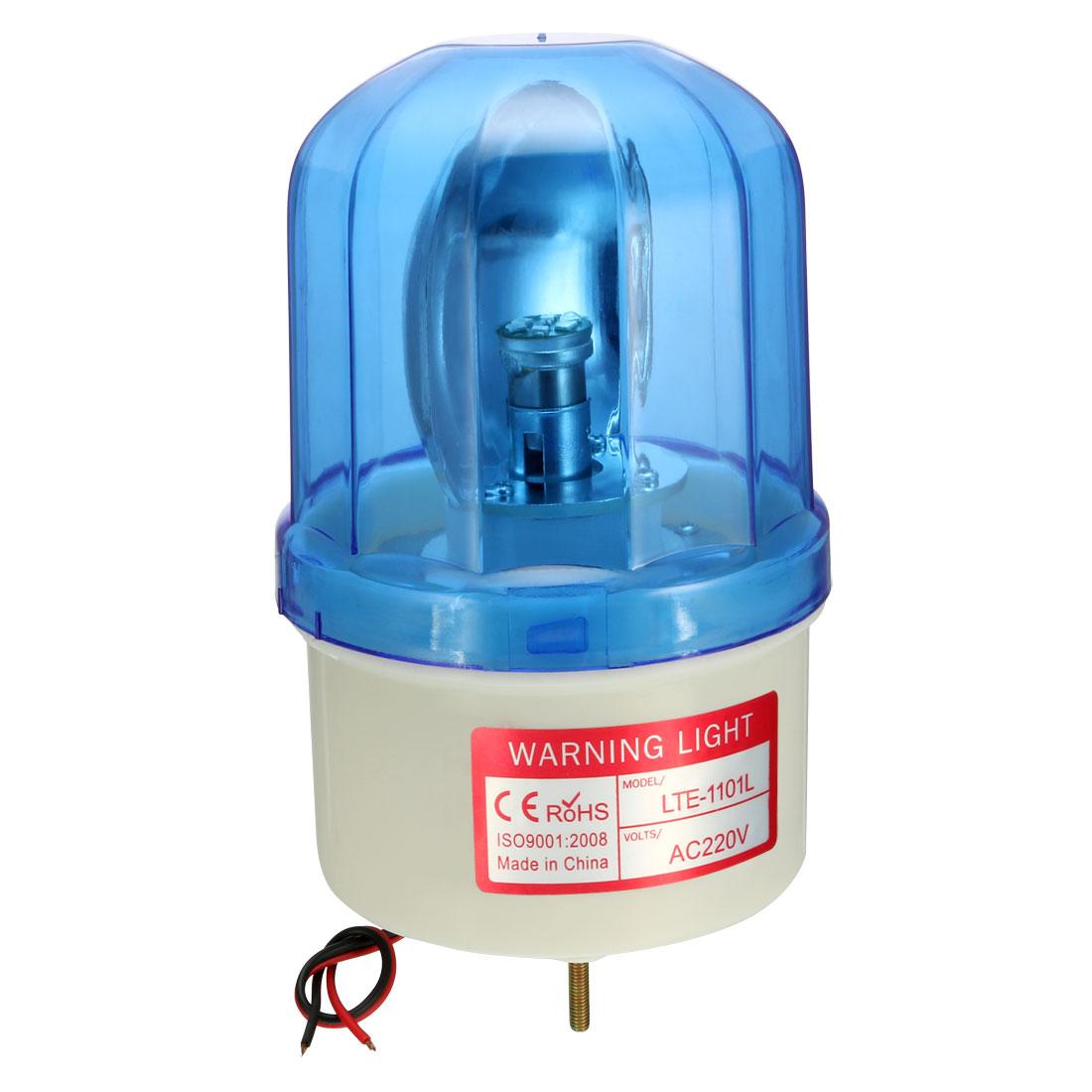 LED Warning Light Bulb Rotating Flashing Signal Tower Lamp AC 220V Blue LTE1101L