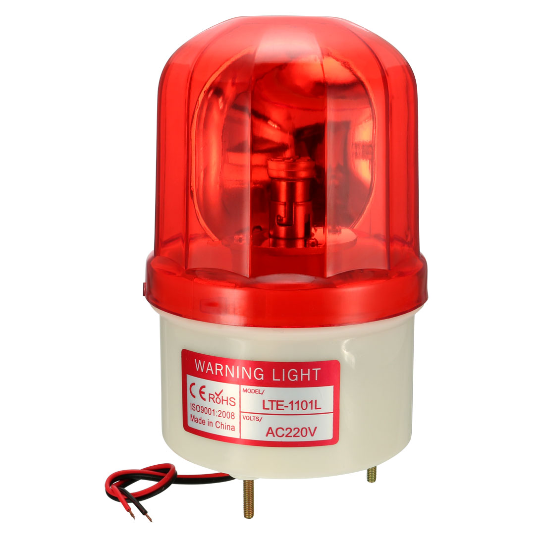 LED Warning Bulb Rotating Flashing Signal Tower Lamp AC 220V Red LTE1101L