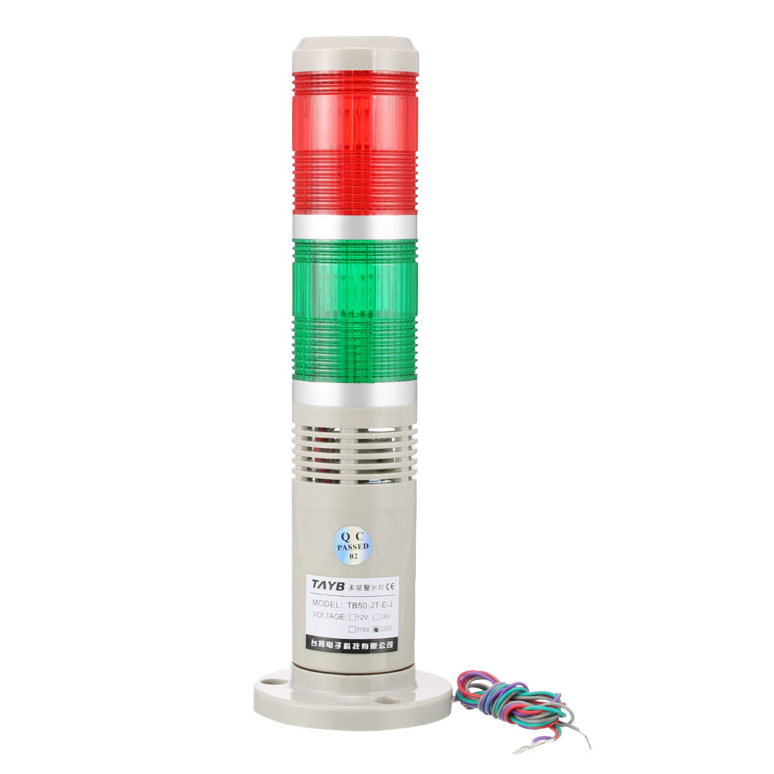 Warning Light Bulb Bright Industrial Alarm Lamp Buzzer 90dB AC220V Red Green
