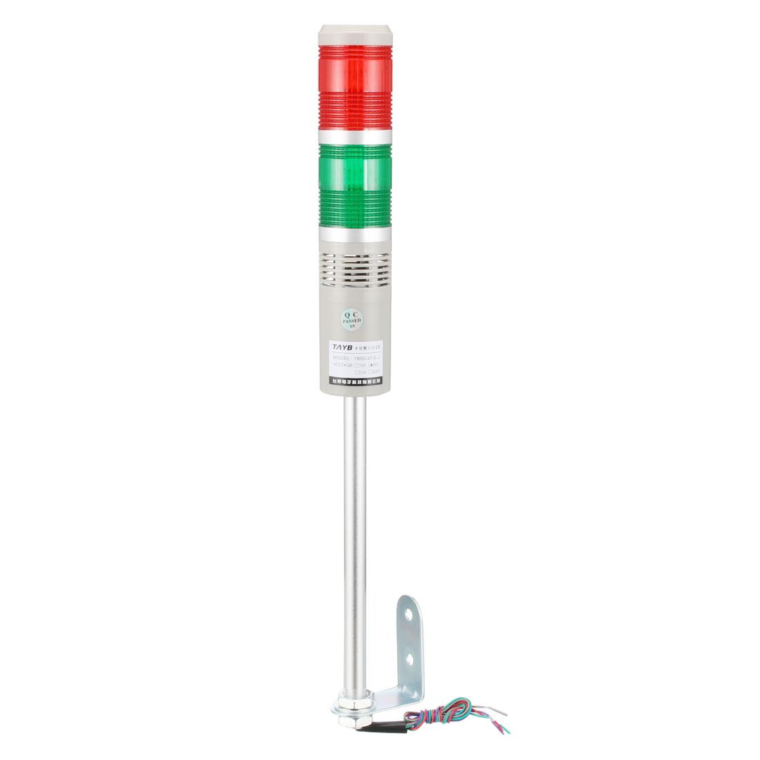 Warning Light Bulb Bright Industrial Signal Alarm Lamp 90db DC24V Red Green