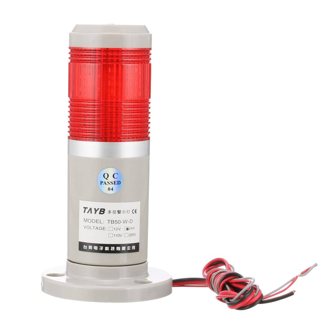 LED Warning Light Bulb Flashing Bright Signal Alarm Tower Lamp DC24V Red