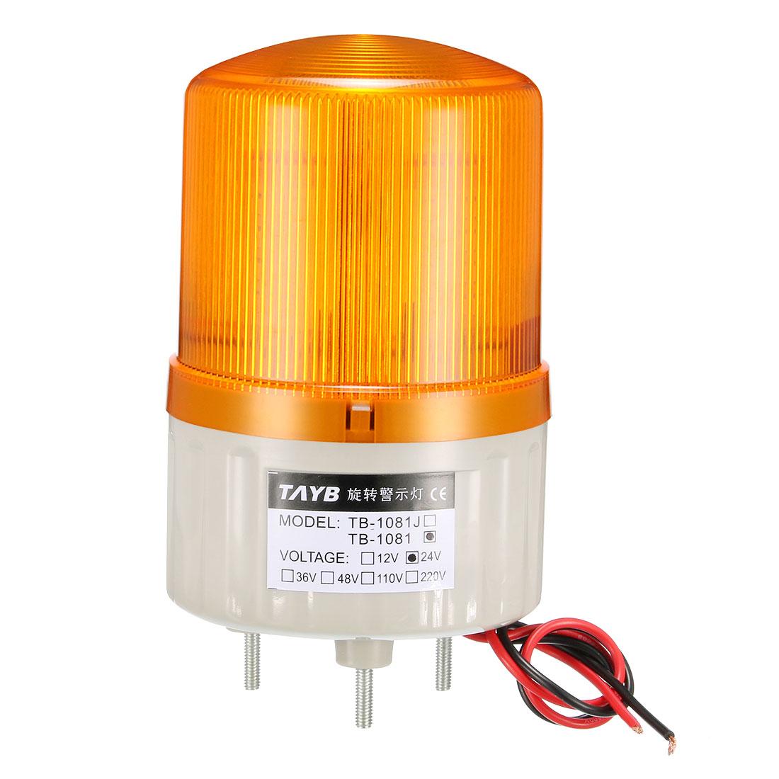 LED Warning Light Bulb Bright Industrial Alarm Lamp DC24V Yellow TB-1081