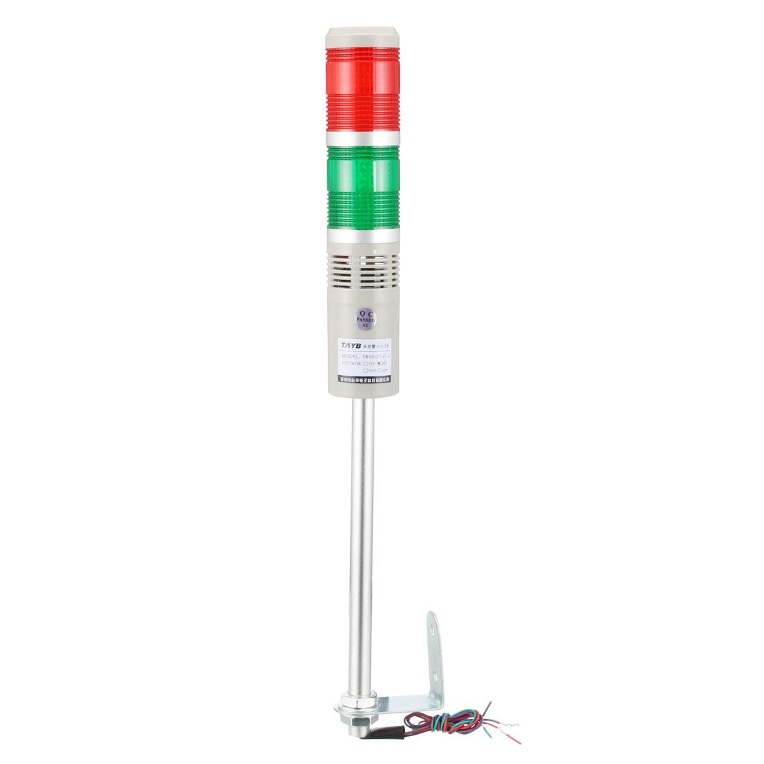 LED Warning Light Bulb Bright Signal Alarm Tower Lamp 90db DC24V Red Green