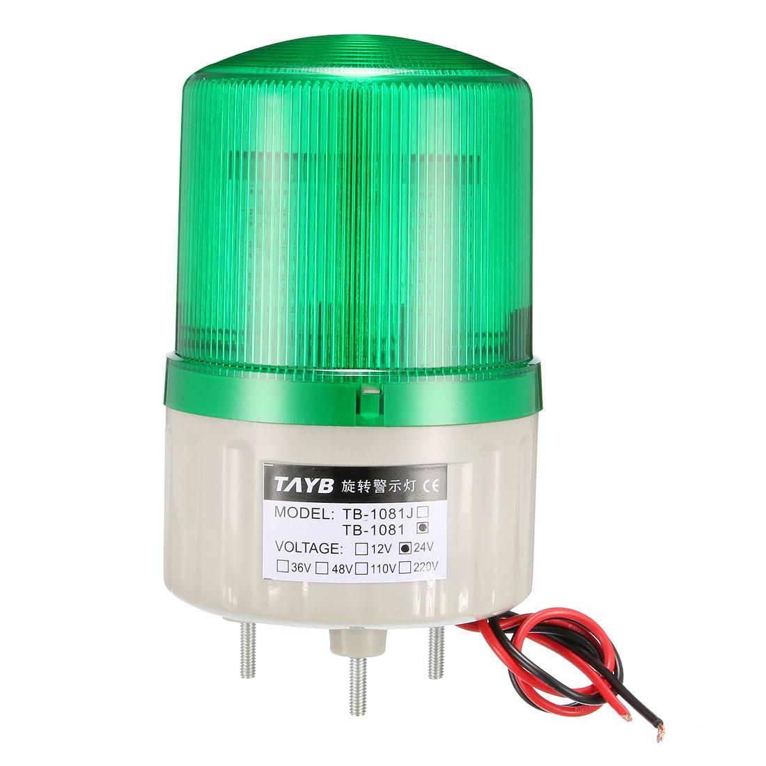 LED Warning Light Bulb Bright Industrial Signal Alarm Lamp DC24V Green TB-1081