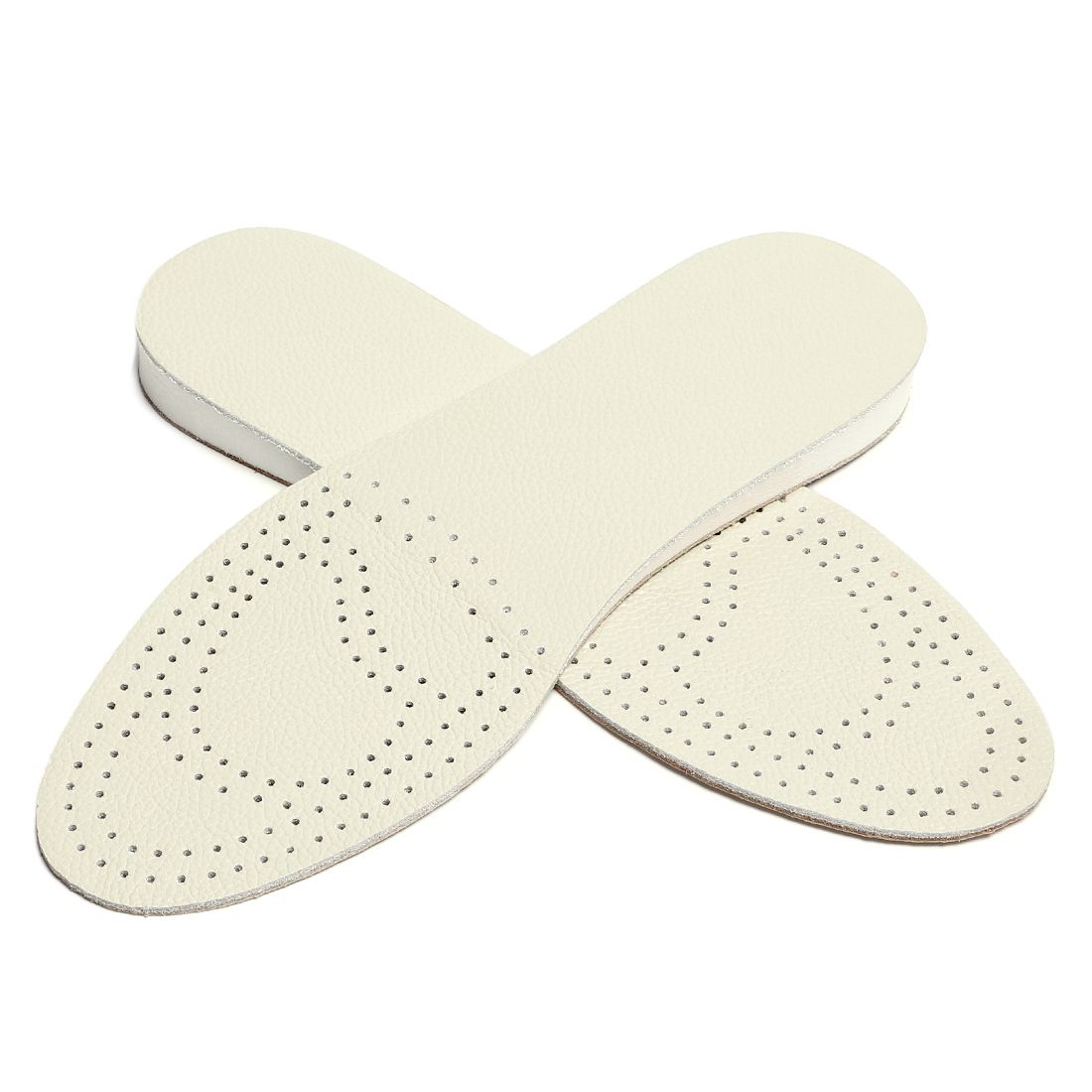 """Women Men Leather Insole Breathable Pad Height Increase W4/M2 5/8"""" High White"""
