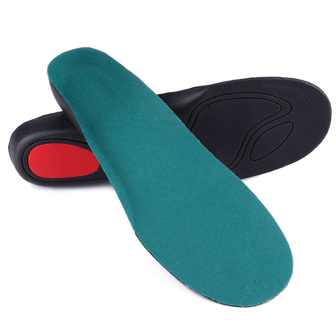 Orthotic Insoles for Women Men Arch Support Full Length Insert W7/M5 Turquoise