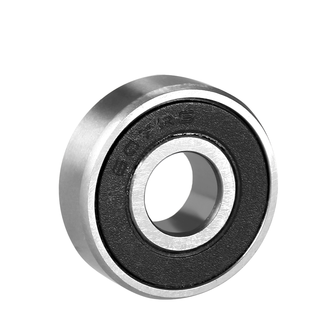 Deep Groove Ball Bearing 607RS Single Sealed, 7mm x 19mm x 6mm Chrome Steel Bearings, 1-Pack