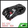 10ft Long 300W 30A Fuse Relay 2 Lead LED Light Wiring Harness Kit for Off Road Car
