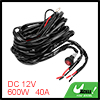 10ft Long 600W 40A Fuse Relay 2 Lead LED Light Wiring Harness Kit for Off Road Car
