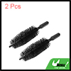 2pcs Black Wheel Brush Cleaner Tire Rim Brush Car Washing Cleaning Tool