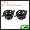 2pcs 12V 200W 120dB 2 Way Audio Speaker Horn Siren Trumpet for Vehicle Car