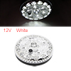 12V Round Shaped White 24 LEDs Car Interior Roof Light Dome Reading Lamp Bulb