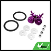 4 in 1 Purple Quick Release Bumper Trunk Fender Hatch Lid Fastener Set for Car