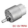 Mini 12V DC 7 RPM Gear Box Electric Motor,14kg.cm Loading Torque,50kg.cm Stall Torque