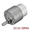 Mini 6V DC 10 RPM Gear Box Electric Motor,2.4kg.cm Loading Torque,10.8kg.cm Stall Torque