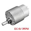 Mini 6V DC 3 RPM Gear Box Electric Motor,7kg.cm Loading Torque,31.5kg.cm Stall Torque