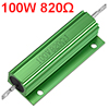 Aluminum Case Resistor 100W 820 Ohm Wirewound Green for LED Replacement Converter 100W 820RJ