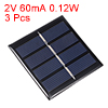 3pcs 2V 60mA 0.12W Poly Mini Solar Cell Panel Module DIY for Phone Toys Charger