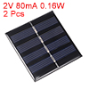 2pcs 2V 80mA 0.16W Poly Mini Solar Cell Panel Module DIY for Phone Toys Charger