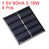 4pcs 2V 80mA 0.16W Poly Mini Solar Cell Panel Module DIY for Phone Toys Charger