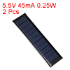 2pcs 5.5V 45mA 0.25W Poly Mini Solar Cell Panel Module DIY for Phone Toys Charger