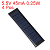 4pcs 5.5V 45mA 0.25W Poly Mini Solar Cell Panel Module DIY for Phone Toys Charger