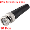 BNC Male Coaxial Connectors Screw-lock Terminal Brass Adapter for CCTV Home Security Surveillance Camera RG59 Video Transmission Coax Cables 10pcs